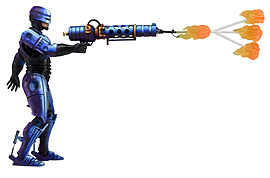 Robocop Vs Terminator Series 2: Robocop with Flame Thrower Figurines and Sets