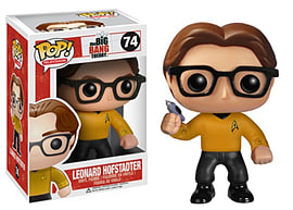 The Big Bang Theory Leonard Hofstadter (Star Trek Shirt) Pop Vinyl Figure Figurines and Sets