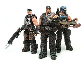 Gears of War- Carmine, Baird and Marcus Set of Three Figures Figurines and Sets