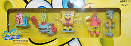 Spongebob Squarepants Mini Figure Collection Series 1 - 5 Pack Figurines and Sets