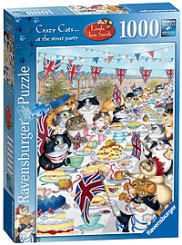 Crazy Cats - At the Street Party, 1000pc Traditional Games