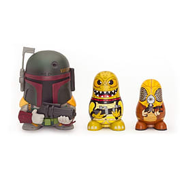 Star Wars Chubby Boba Fett/ Bossk/ Zuckuss Bounty Hunter Collectable Russian Figurines Set Figurines and Sets