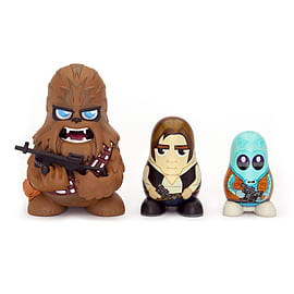 Star Wars Chubby Chewbacca/ Han Solo/ Greedo Mos Eisley Cantina Collectable Russian Figurines Set Figurines and Sets