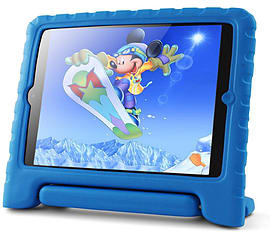 Kidprotek 2-In-1 Chunky Case and Stand for iPad Mini - Blue Tablet