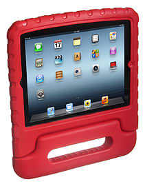 Kidprotek 2-In-1 Chunky Case and Stand for iPad - Red Tablet