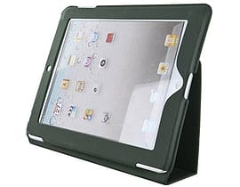 4world Case With Leg Stand For Ipad 2, Slim, Black Tablet