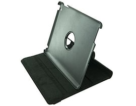 4world Case With Leg Stand For Ipad 2, Rotary, Black Tablet