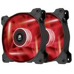 Corsair Air Series AF120 LED Red Quiet Edition High Airflow 120mm Fan Dual Fans PC