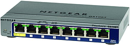 Netgear GS108T ProSafe 8 Port Gigabit Smart Switch PC