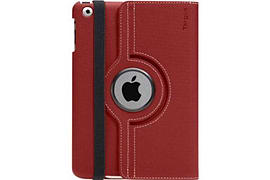 Targus Red Twill Versavu Rotating Stand and Case For The Ipad Mini Tablet
