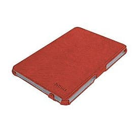 Hardcover Skin/Folio Stand for iPad Mini - Fabric Red Tablet