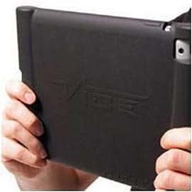 Vibe Slick-Grip Passive Amplifier iPad Protective Case (Black) Tablet