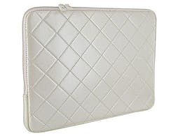 4world Quilted Notebook Sleeve For 15.6 Inch With Orange Soft Inner, White PC