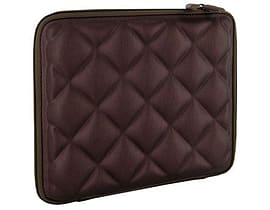 4world Quilted Tablet Sleeve And Lock For 9.7 Inch With Green Soft Inner, Brown Tablet