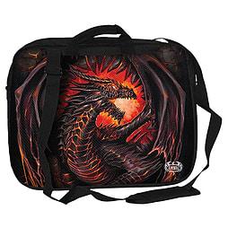 Spiral Dragon Furnace Laptop Shoulder Bag for 15 Inch, Black PC
