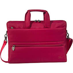 Rivacase 8630 Polyester Laptop Bag With Tablet Compartment For 15.6 Inch Notebooks, Red PC