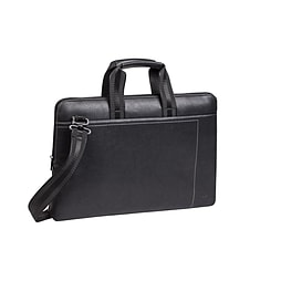 RivaCase 8930 PU Leather Bag for 15.6 inch Laptop - Black PC