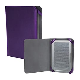 7 Inch Universal Protection Case For E-book And Tablet, Leather Finish, Purple Tablet