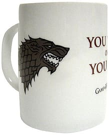 Game Of Thrones - You Win Or Die White Ceramic Mug Home - Tableware