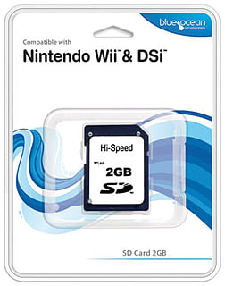 Blue Ocean SD Card 2GB Wii