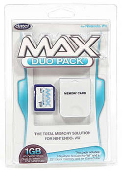 Datel Max Memory Duo Pack for Nintendo Wii (1GB SD + 16MB Memory Cards) Wii