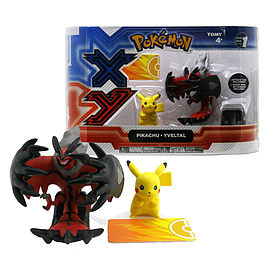 Pokemon XY Legendary 2 Pack: Pikachu and Yveltal Figurines and Sets