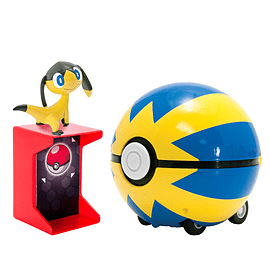 Pokemon Catch N Return Quick Helioptile and Quick Ball Figurines and Sets