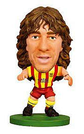 SoccerStarz FC Barcelona Carles Puyol Limited Edition Away Kit Figurines and Sets