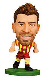 SoccerStarz FC Barcelona Gerard Pique Limited Edition Away Kit Figurines and Sets