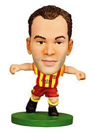 Soccerstarz FC Barcelona Andres Iniesta Limited Edition Away Kit Figurines and Sets