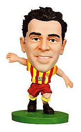 SoccerStarz FC Barcelona Xavi Hernandez Limited Edition Away Kit Figurines and Sets