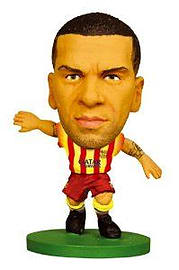 SoccerStarz FC Barcelona Dani Alves Limited Edition Away Kit Figurines and Sets