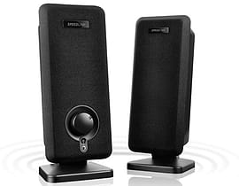 Speedlink Vento Xl Usb-powered Slimline Stereo Speakers, 2w Rms, Black (sl-8020-bk) Audio