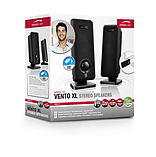 Speedlink Vento Xl Usb-powered Slimline Stereo Speakers, 2w Rms, Black (sl-8020-bk) screen shot 2
