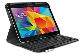 Logitech Ultrathin Keyboard Protective Case For Samsung Galaxy Tab 4 10.1 Tablet