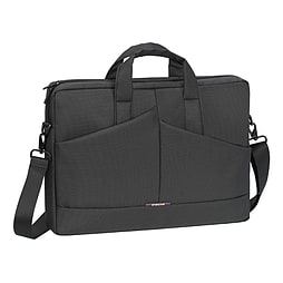 Rivacase 8731 Slim Compact Diagonal Plus Polyester Bag For 15.6 Inch Laptops, Grey PC