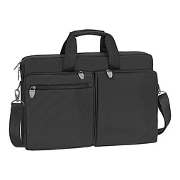 Rivacase 8550 Water-resistant Polyester Bag For 17.3 Inch Laptops, Black PC