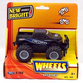 New Bright 5 inch 4x4 Pick Ups - Ford F-150 (BLACK) Scaled Models