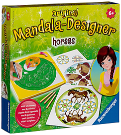 Mandala Designer Horses Theme Traditional Games