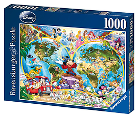 Disney World Map (1000 Pieces) Traditional Games