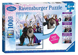 Ravensburger Disney Frozen Spot the Difference Jigsaw (XXL, 100 Pieces) Traditional Games