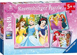 Disney Princess 3 x 49 Piece Puzzle Traditional Games