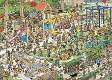 Jan Van Haasteren The Playground Puzzle (1000 Pieces) screen shot 1