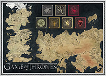 Game of Thrones Map of The Known World Jigsaw Puzzle 1000pcs Puzzle screen shot 1