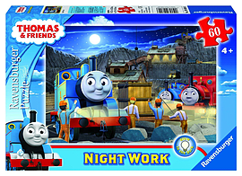 Thomas Night Work Glow in the Dark Puzzle 60pc Traditional Games
