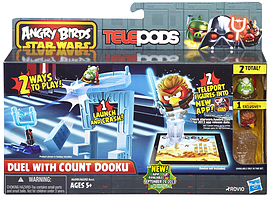 Star Wars Angry Birds Telepods Duel with Count Dooku Figurines and Sets