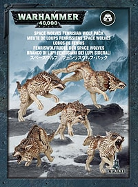 Warhammer 40,000 Space Wolves Fenrisian Wolf Pack Figurines and Sets