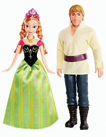 Disney Frozen Anna and Kristoff Doll 2 pack Figurines and Sets