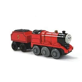 Thomas and Friends Wooden Railway: James Battery Powered Die Cast with 1 piece of Thomas Track Pre School Toys