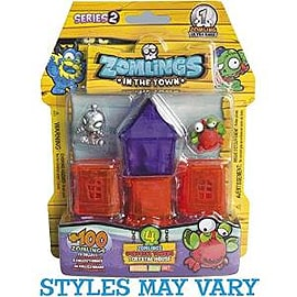 Zomlings Series 2 Blister House Or Tower Figurines and Sets